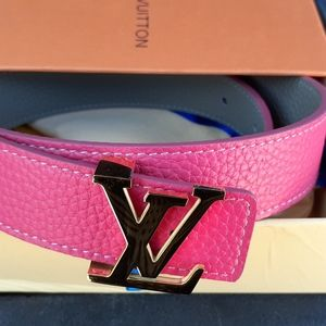 Pink Leather Louis Vuitton belt size 6 to 8